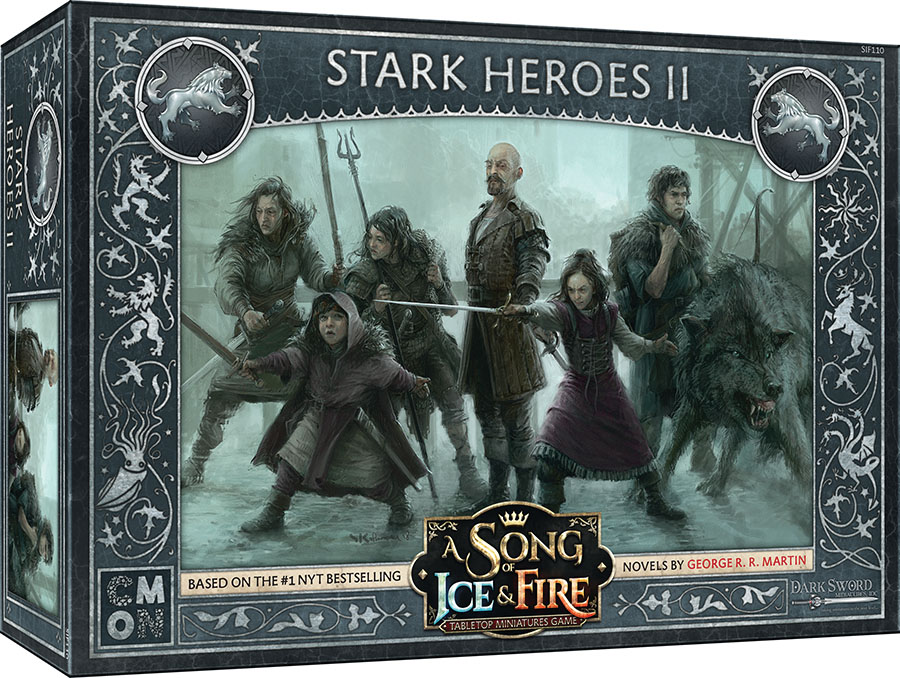 A Song Of Ice & Fire: Tabletop Miniatures Game: Stark Heroes #2 Game Box