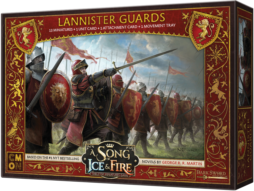 A Song Of Ice & Fire: Tabletop Miniatures Game: Lannister Guardsmen Box Front