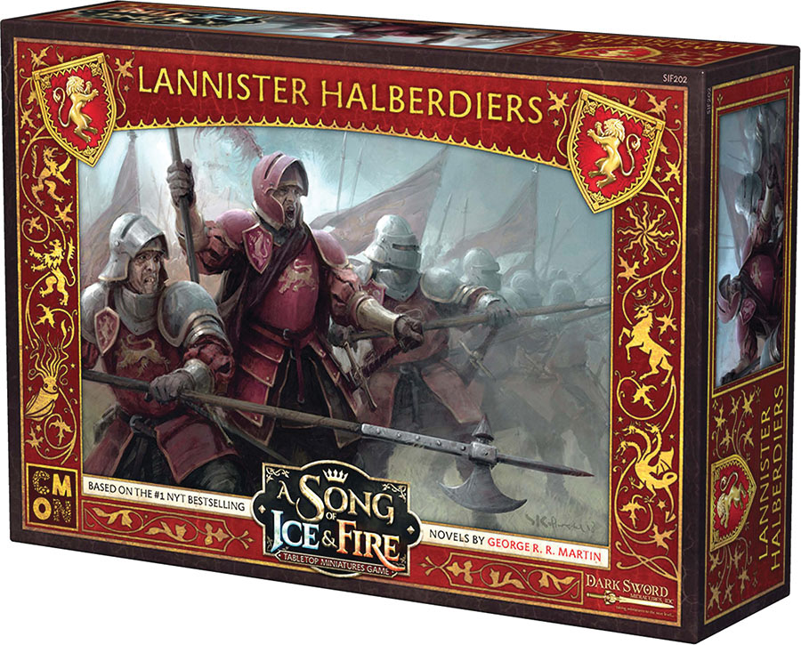 A Song Of Ice & Fire: Tabletop Miniatures Game: Lannister Halberdiers Unit Box Game Box