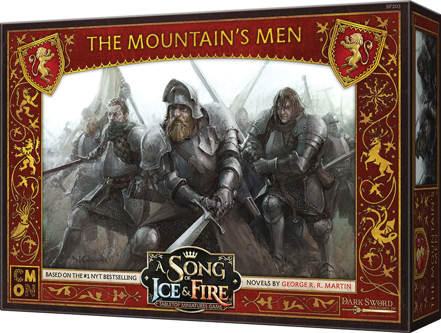 A Song Of Ice & Fire: Tabletop Miniatures Game: Lannister The Mountain`s Men Unit Box Game Box