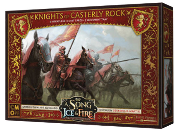 A Song Of Ice & Fire: Tabletop Miniatures Game: Lannister Knights Of Casterly Rock Unit Box Game Box