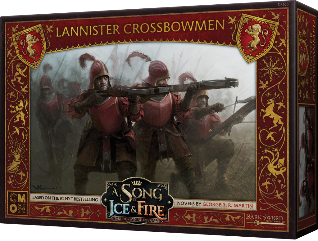 A Song Of Ice & Fire: Tabletop Miniatures Game: Lannister Crossbowmen Box Front