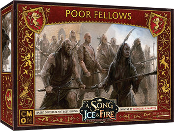 A Song Of Ice & Fire: Tabletop Miniatures Game: Lannister Poor Fellows Unit Box Game Box