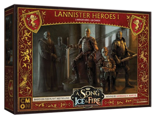 A Song Of Ice & Fire: Tabletop Miniatures Game: Lannister Heroes #1 Box Front