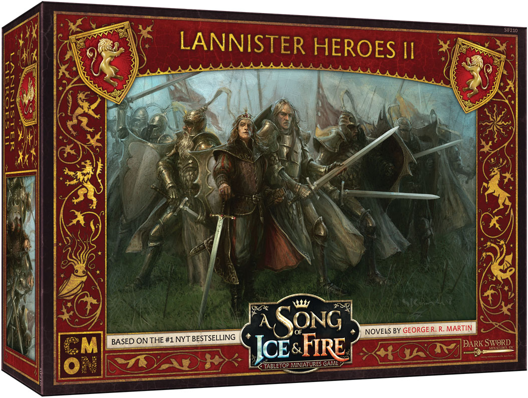A Song Of Ice & Fire: Tabletop Miniatures Game: Lannister Heroes #2 Game Box