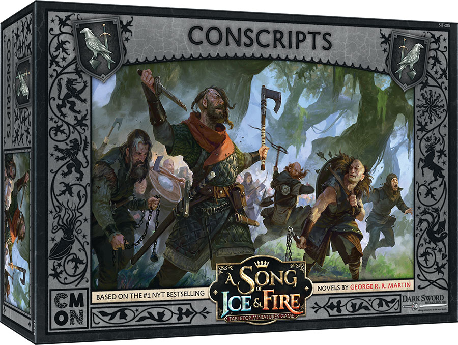 A Song Of Ice & Fire: Tabletop Miniatures Game: Night`s Watch Conscripts Unit Box Game Box