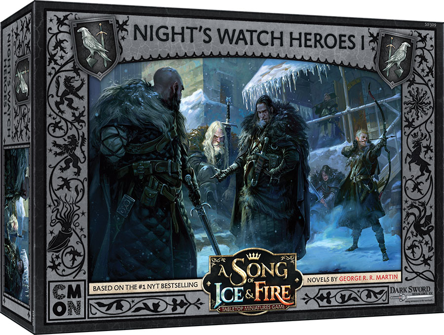 A Song Of Ice & Fire: Tabletop Miniatures Game: Night`s Watch Heroes Box 1 Game Box