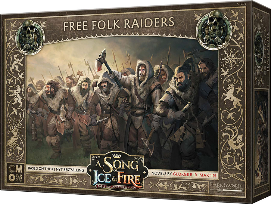 A Song Of Ice & Fire: Tabletop Miniatures Game: Free Folk Raiders Unit Box Game Box