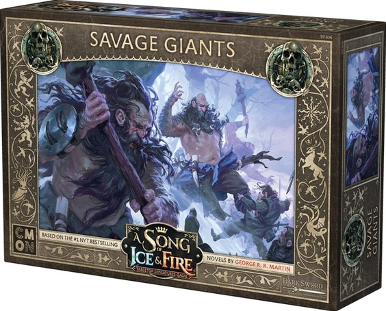 A Song Of Ice & Fire: Tabletop Miniatures Game: Savage Giants Unit Box Game Box
