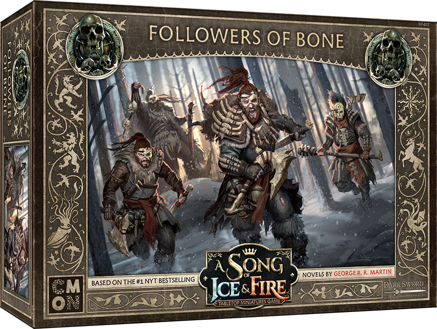 A Song Of Ice & Fire: Tabletop Miniatures Game: Free Folk Followers Of Bone Unit Box Game Box