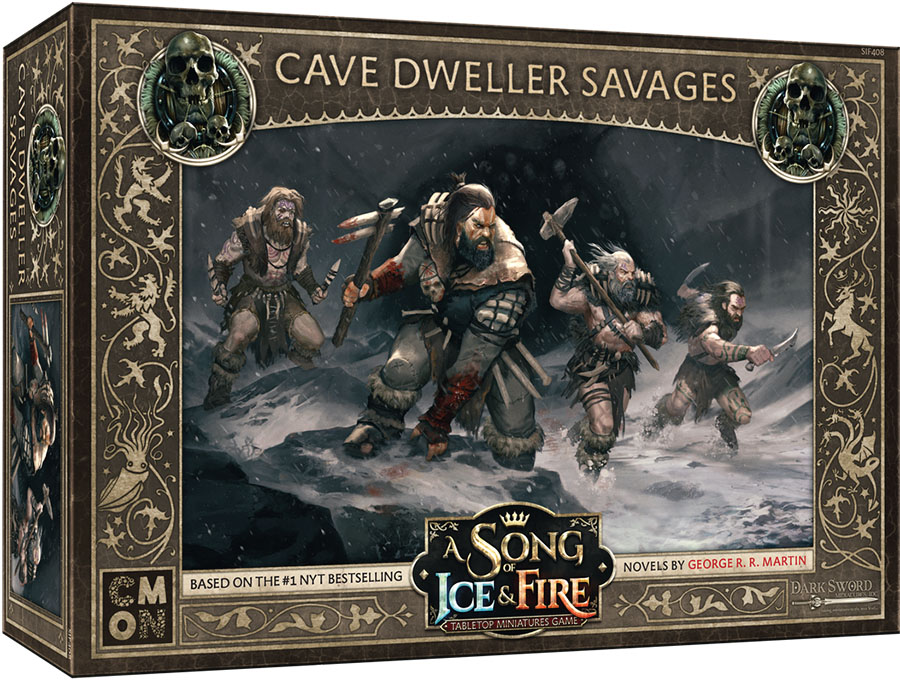 A Song Of Ice & Fire: Tabletop Miniatures Game: Free Folk Cave Dweller Savages Unit Box Game Box