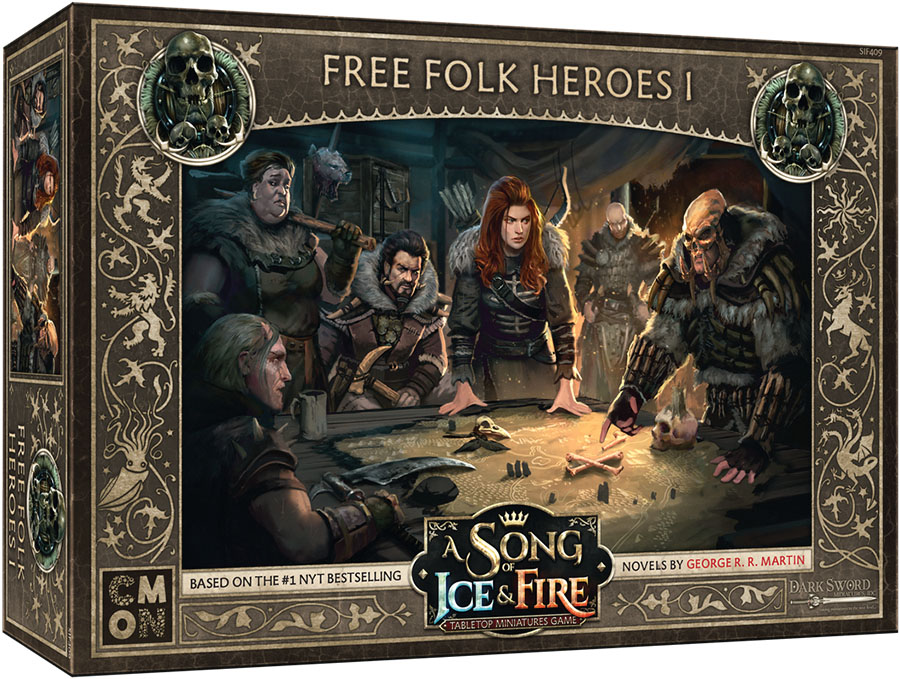 A Song Of Ice & Fire: Tabletop Miniatures Game: Free Folk Heroes Box 1 Game Box