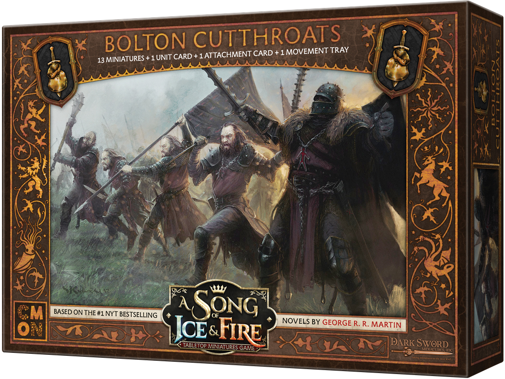 A Song Of Ice & Fire: Tabletop Miniatures Game: Bolton Cutthroats Box Front