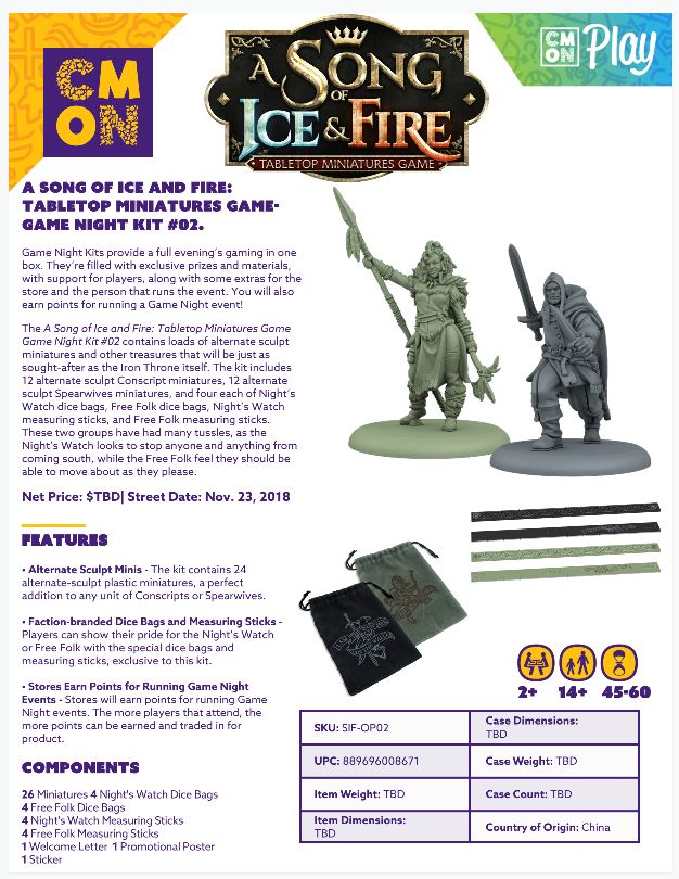 A Song Of Ice & Fire: Tabletop Miniatures Game: Game Night Kit 2 Game Box
