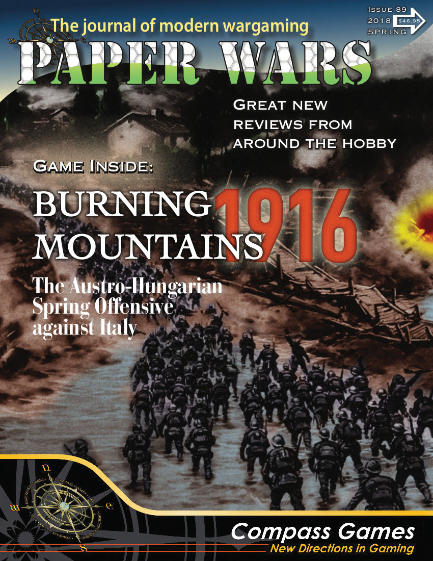 Paper Wars #89: Burning Mountains Game Box