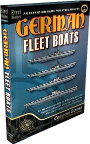 Steel Wolves: German Fleet Boats Expansion Box Front