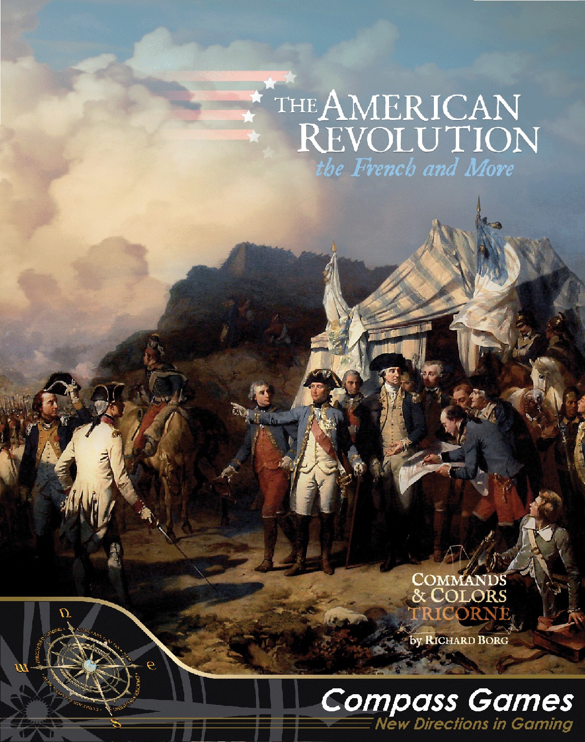 Commands And Colors: Tricorne Expansion 1 - The American Revolution War Game Box