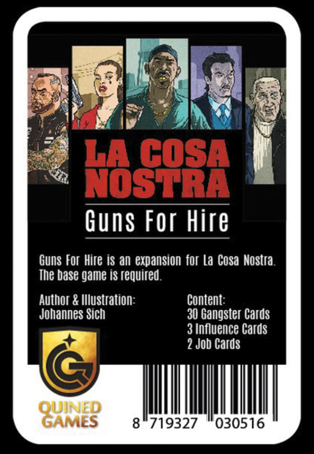 La Cosa Nostra: Guns For Hire Game Box