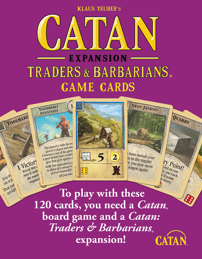 Catan: Traders And Barbarians Replacement Game Cards Box Front