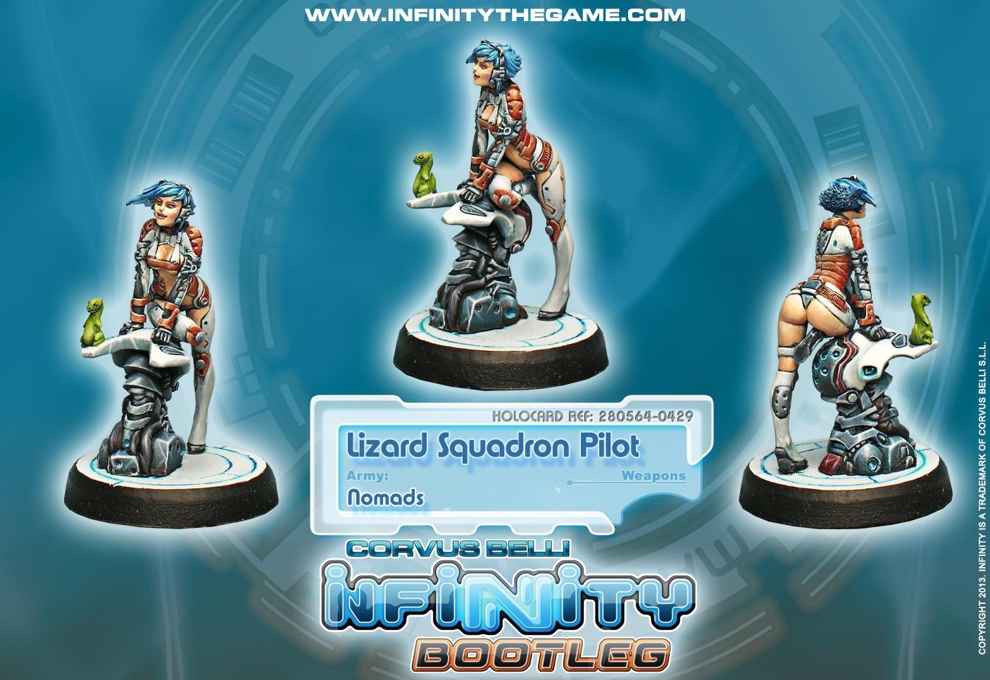 Infinity: Nomads Bootleg Lizard Pilot Box Front