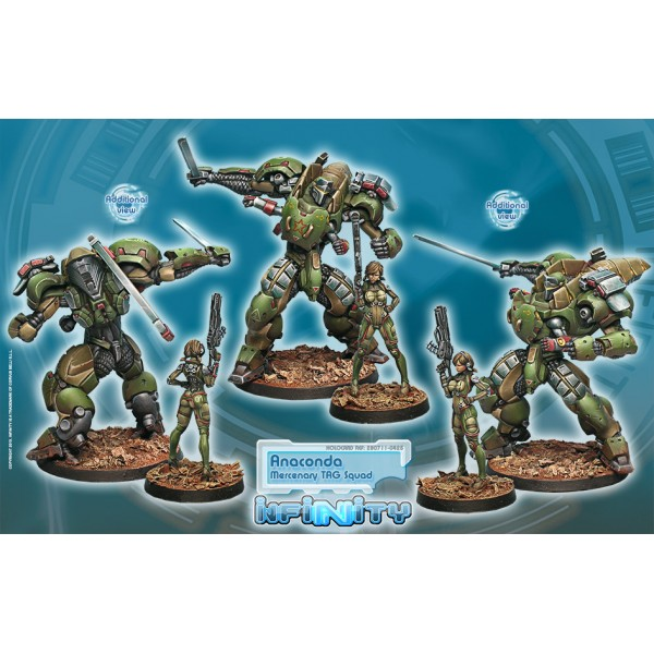 Infinity: Mercenaries Anaconda, Mercenary Tag Squadron Box Front