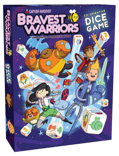 Bravest Warriors Co-operative Dice Game Box Front