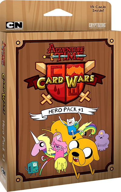 Adventure Time Card Wars: Hero Pack #1 Box Front