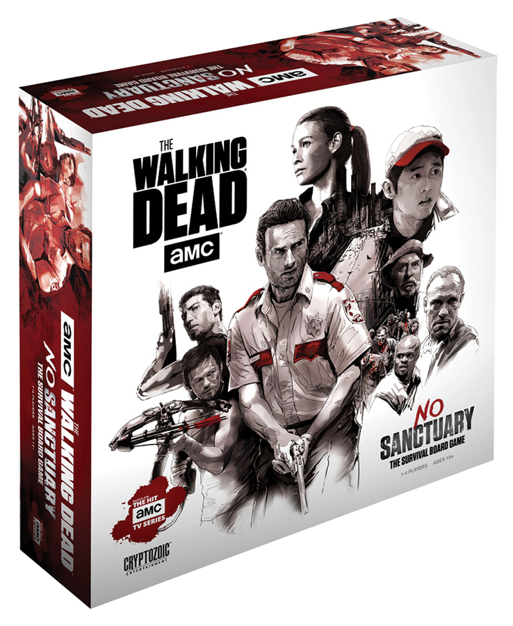The Walking Dead (tv): No Sanctuary - Survivor Edition (comes With Cardboard Standees) Box Front