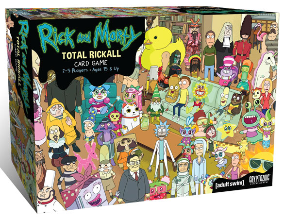 Rick And Morty: Total Rickall Cooperative Card Game Box Front