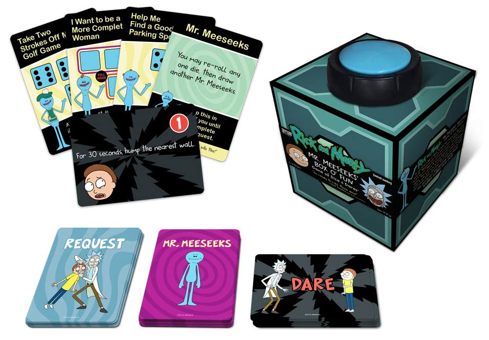 Rick And Morty: Mr. Meeseeks` Box O` Fun Box Front