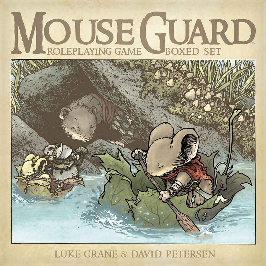 Mouse Guard Roleplaying Game Hc Boxed Set (2nd Edition) Box Front