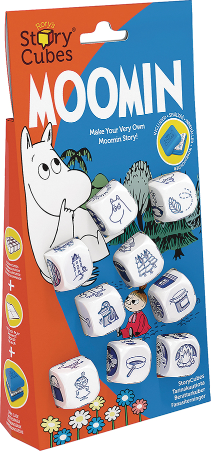 Rorys Story Cubes: Moomin Dice Set Box Front