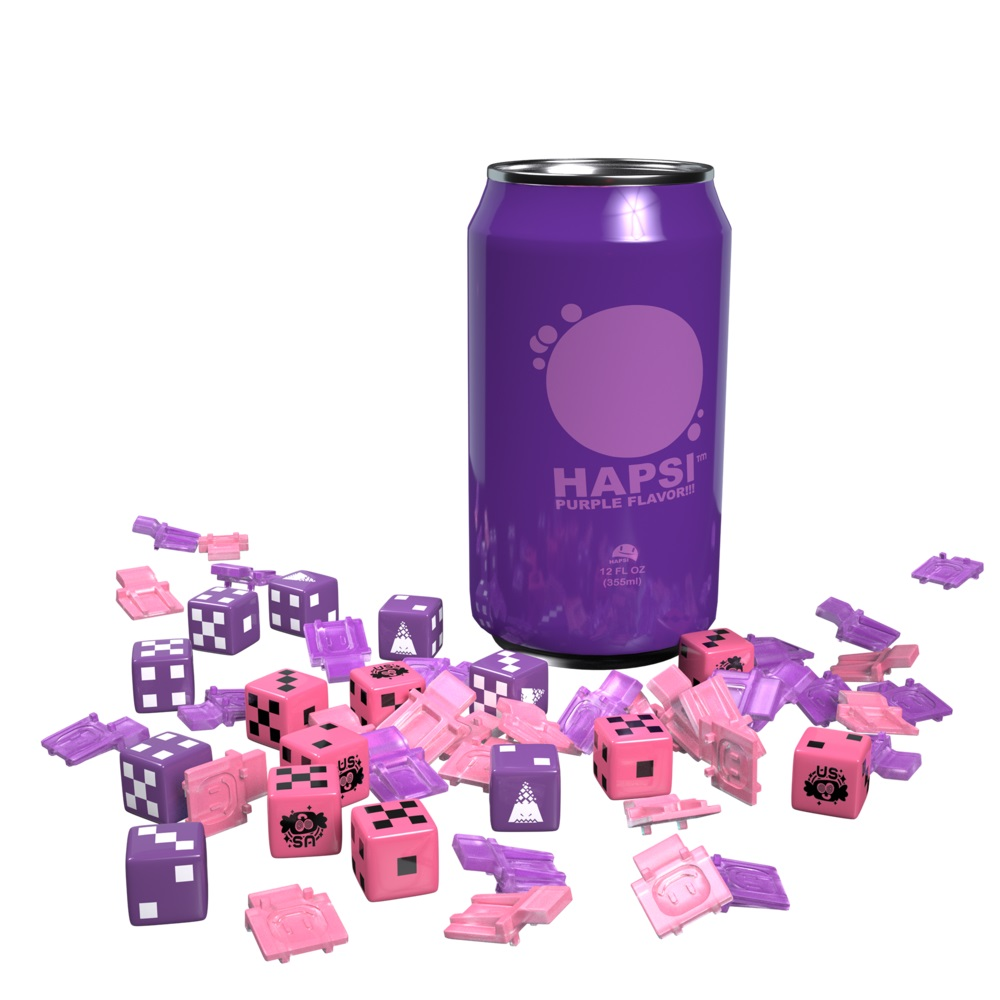 Giant Killer Robots: Hapsi Can & Faction Dice - Purple