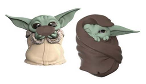 Star Wars Mandalorian Man Baby Bounties Soup/blanket Figure (2 Pack)