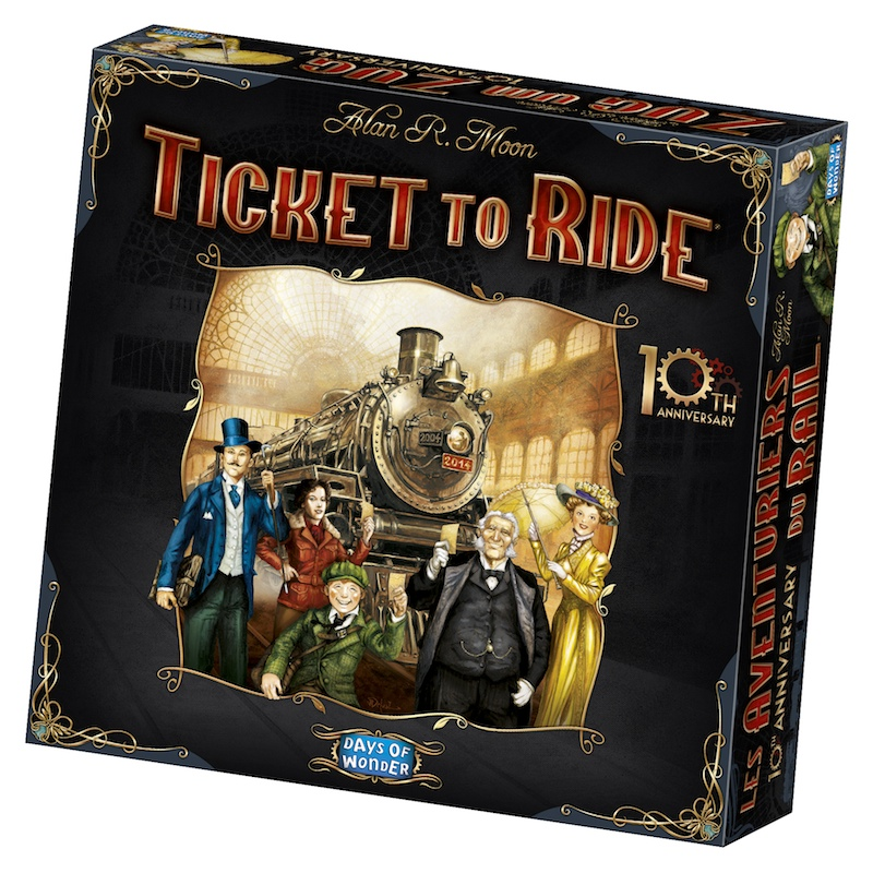 Ticket To Ride: 10th Anniversary Edition Box Front