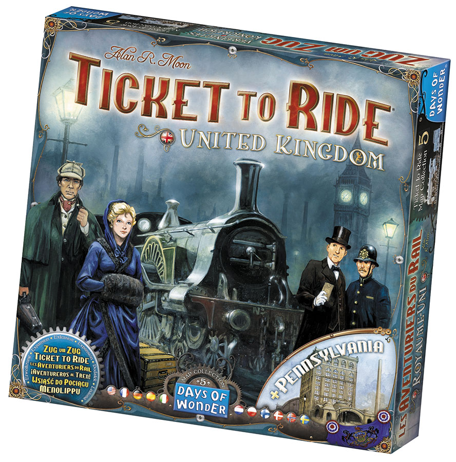 Ticket To Ride: Map Collection V5 - United Kingdom And Pennsylvania Box Front
