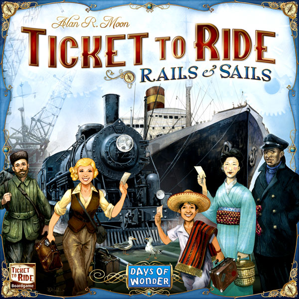 Ticket To Ride: Rails And Sails Box Front