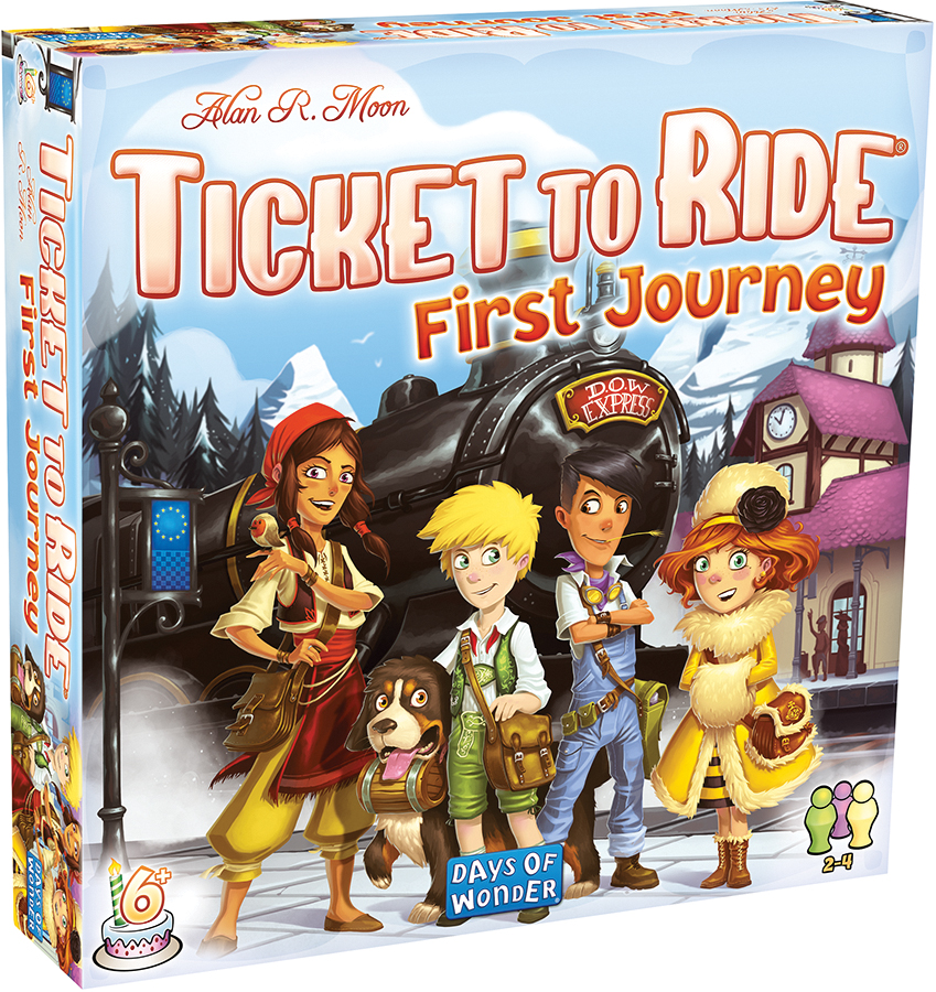 Ticket To Ride: First Journey - Europe Box Front