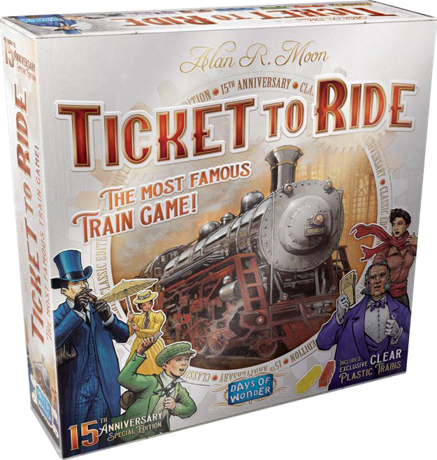 Ticket To Ride: 15th Anniversary Edition Game Box