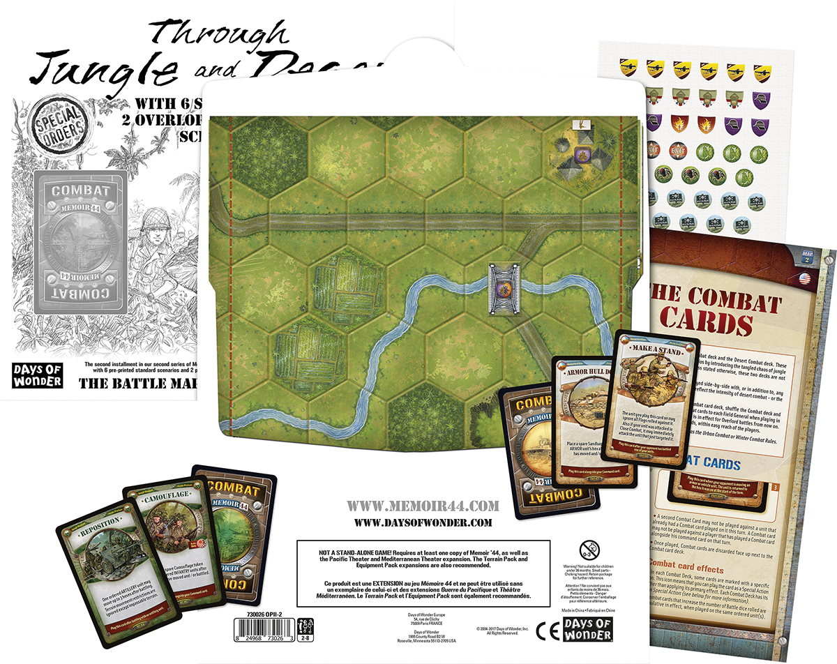 Memoir 44: The Battle Map Series Ii - V2 Through Jungle And Desert Box Front