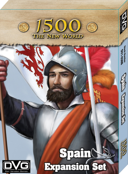 1500 - The New World: Spain Expansion Box Front