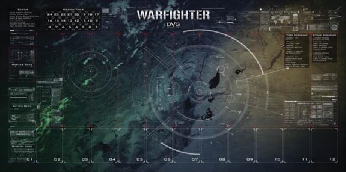 Warfighter: Modern Neoprene Roll Up Game Mat Box Front
