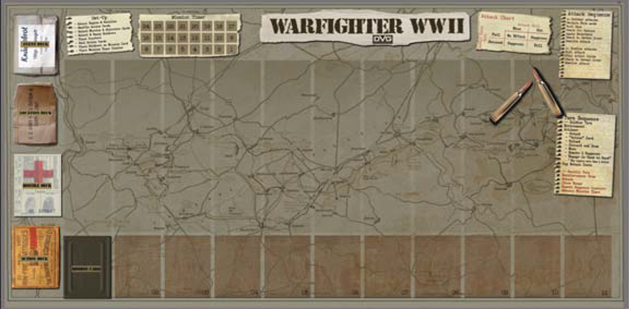 Warfighter Wwii: Neoprene Roll Up Game Mat Box Front
