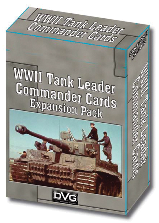 Tiger Leader And Sherman Leader Enemy Commander Cards Box Front