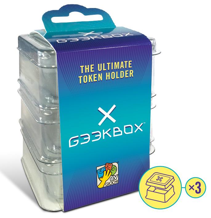 Geekbox Clear Plastic Token Storage Box/lid (3 Pk) Box Front