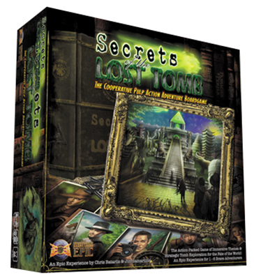 Secrets Of The Lost Tomb: Core Adventure Game - 2nd Edition Box Front
