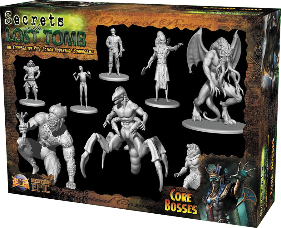 Secrets Of The Lost Tomb: Core Boss Miniatures Box Front