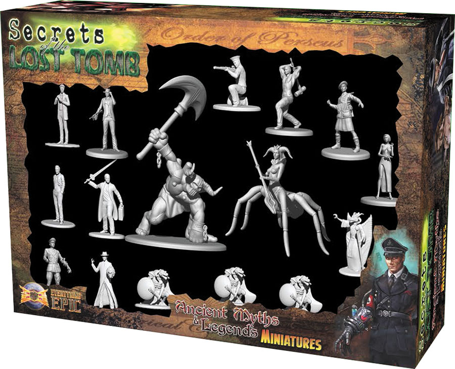 Secrets Of The Lost Tomb: Ancient Myths & Legends Miniatures Box Front