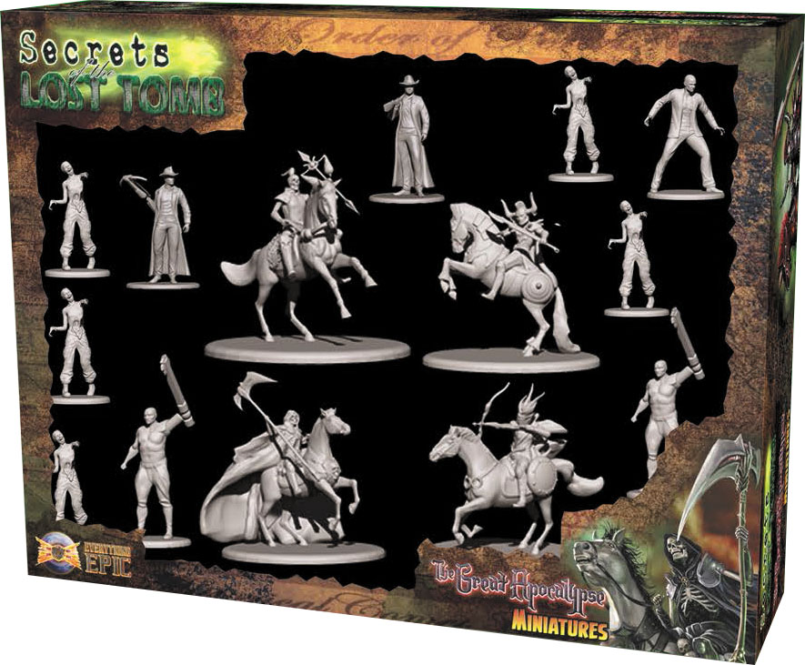 Secrets Of The Lost Tomb: The Great Apocalypse Miniatures Box Front