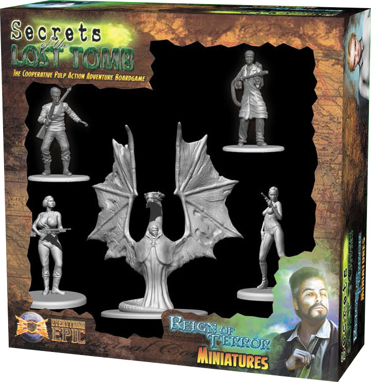 Secrets Of The Lost Tomb: Reign Of Terror Miniatures Box Front